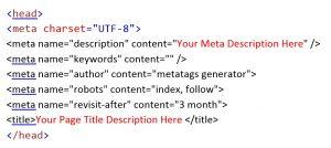 Meta Tag code example